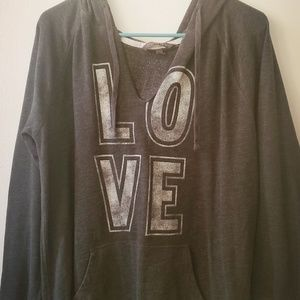 Low cut front hoodie